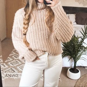 H&M Dusty Pink Chunky Knit Sweater